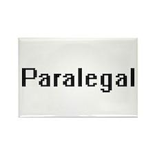 Paralegal Retro Digital Job Design Magnets