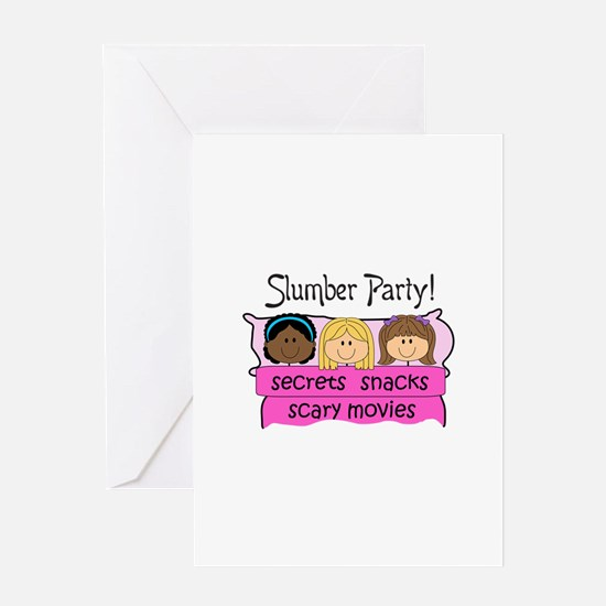 GIRLS SLUMBER PARTY Greeting Cards