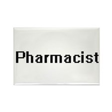Pharmacist Retro Digital Job Design Magnets
