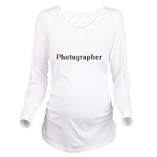 Photographer Retro D Long Sleeve Maternity T-Shirt