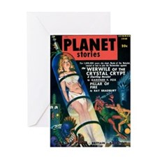PLANET STORIES-VINTAGE PULP MAGAZINE COVER Greetin