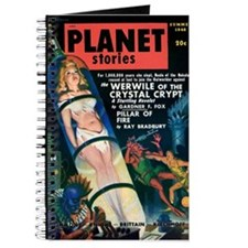 PLANET STORIES-VINTAGE PULP MAGAZINE COVER Journal