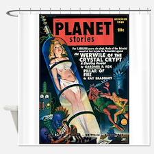 PLANET STORIES-VINTAGE PULP MAGAZINE COVER Shower