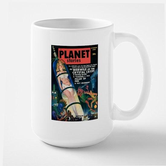 PLANET STORIES-VINTAGE PULP MAGAZINE COVER Mugs