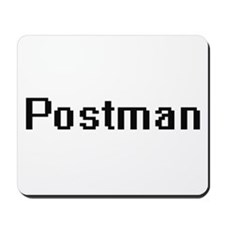 Postman Retro Digital Job Design Mousepad