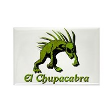 Chupacabra Lime Rust Rectangle Magnet