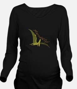 Pterodactyl Long Sleeve Maternity T-Shirt