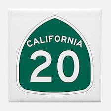 Route 20, California Tile Coaster
