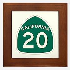 Route 20, California Framed Tile