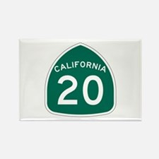 Route 20, California Rectangle Magnet (100 pack)