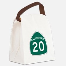 Route 20, California Canvas Lunch Bag