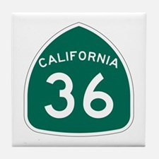 Route 36, California Tile Coaster