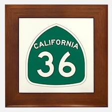 Route 36, California Framed Tile