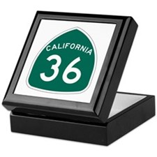 Route 36, California Keepsake Box