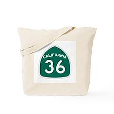 Route 36, California Tote Bag