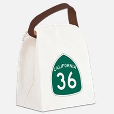 Route 36, California Canvas Lunch Bag
