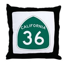 Route 36, California Throw Pillow