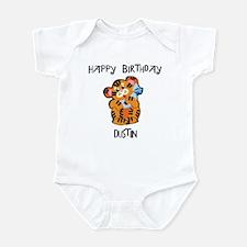 Happy Birthday Dustin (tiger) Infant Bodysuit