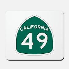 Route 49, California Mousepad