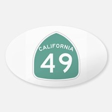 Route 49, California Sticker (Oval)