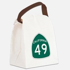 Route 49, California Canvas Lunch Bag