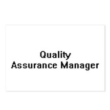 Quality Assurance Manager Postcards (Package of 8)