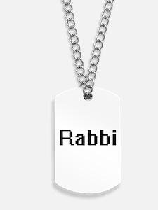 Rabbi Retro Digital Job Design Dog Tags