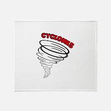 CYCLONES Throw Blanket