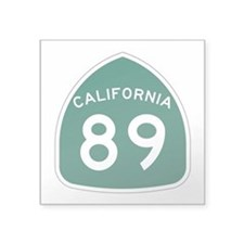 "Route 89, California Square Sticker 3"" x 3"""