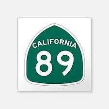 """Route 89, California Square Sticker 3"""" x 3"""""""