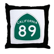 Route 89, California Throw Pillow