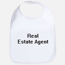 Real Estate Agent Retro Digital Job Design Bib