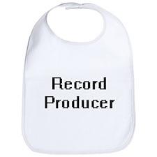 Record Producer Retro Digital Job Design Bib