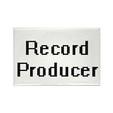 Record Producer Retro Digital Job Design Magnets