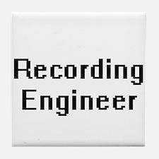 Recording Engineer Retro Digital Job Tile Coaster