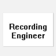 Recording Engineer Retro Postcards (Package of 8)