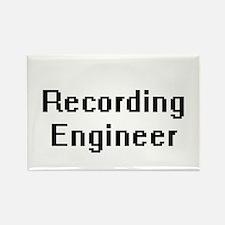 Recording Engineer Retro Digital Job Desig Magnets