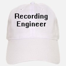 Recording Engineer Retro Digital Job Design Baseball Baseball Cap