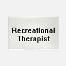 Recreational Therapist Retro Digital Job D Magnets