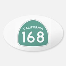 Route 168, California Sticker (Oval)
