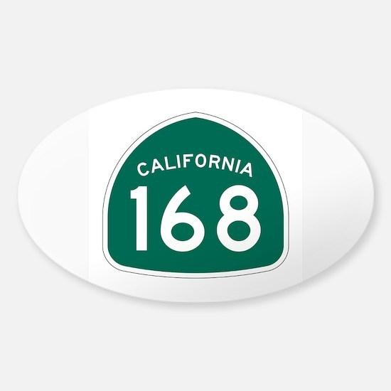 Route 168, California Sticker (Oval)