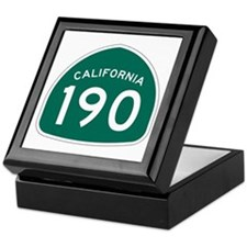 Route 190, California Keepsake Box