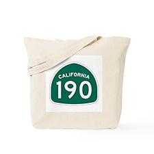 Route 190, California Tote Bag