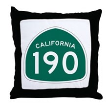 Route 190, California Throw Pillow