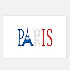 EIFFEL TOWER PARIS Postcards (Package of 8)