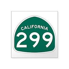 """Route 299, California Square Sticker 3"""" x 3"""""""
