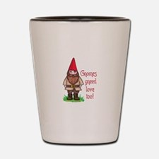 GNOMES GNEED LOVE TOO Shot Glass