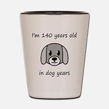 20 dog years 2 Shot Glass