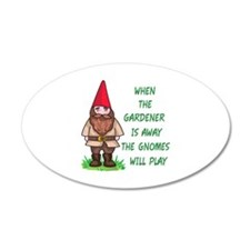 THE GNOMES WILL PLAY Wall Decal
