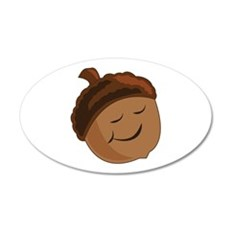 Smiling Acorn Wall Decal